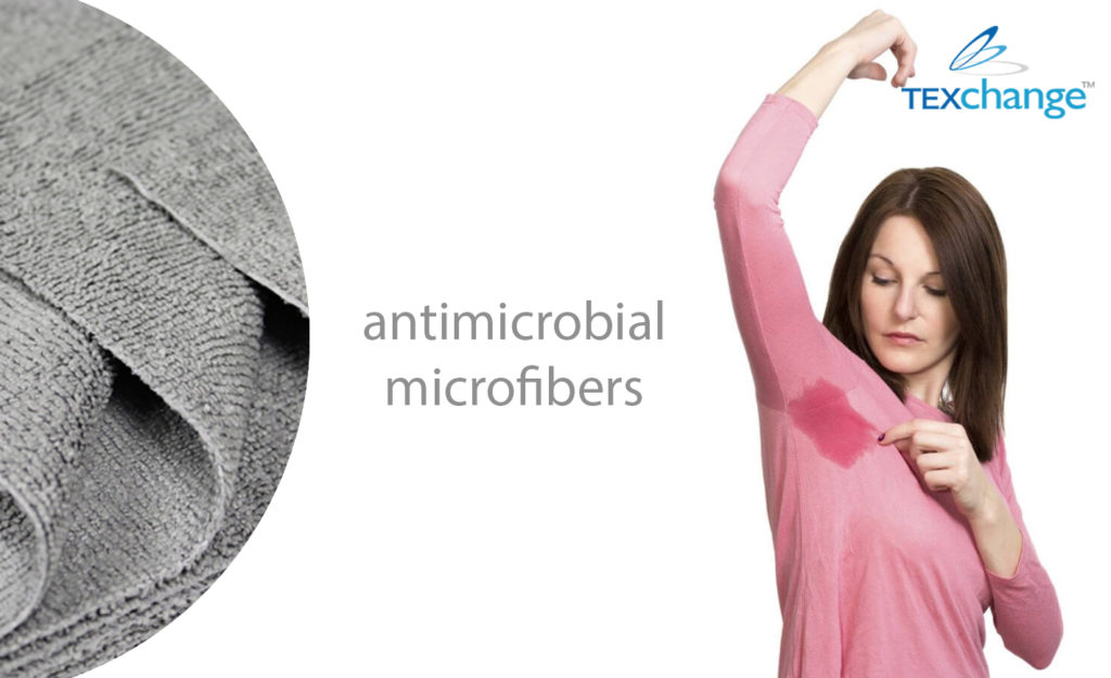 antimicrobial microfibers